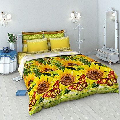 """Комплект постельного белья """"Подсолнухи"""" 4274 (евро) (099944), фото 1"""