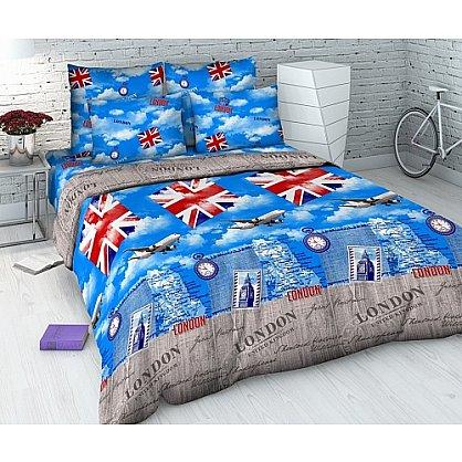 """Комплект постельного белья """"Британские каникулы"""" 4298 (семейное) (100918), фото 1"""