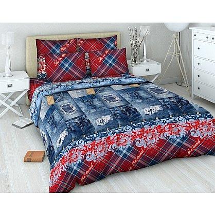 """Комплект постельного белья """"Шотландка"""" 4355 (v-4355), фото 1"""