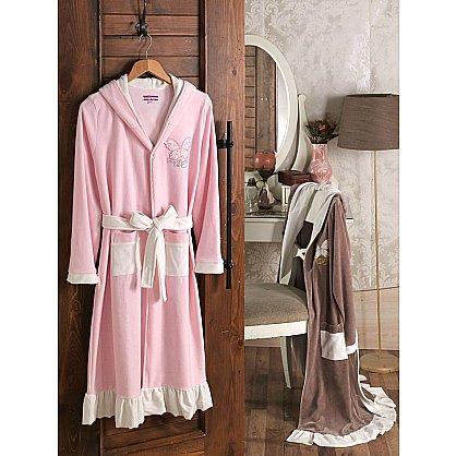 Халат женский Virginia Secret, Розовый, р. M (46) (tg-100143), фото 1