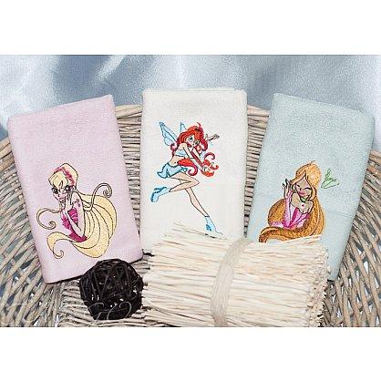 Детский набор полотенец Camomilla Bamboo, 30*50 см - 3 шт, розовый, белый, голубой-A (tg-Винкс8323-03-A), фото 1