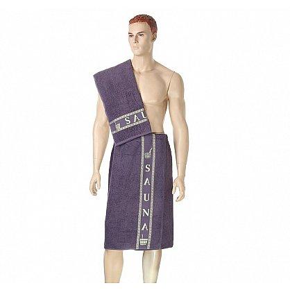 Комплект для сауны мужской, слива (2000000001227-sl), фото 1