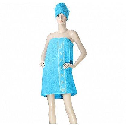 Комплект для сауны женский, бирюза (2000000001197-dr), фото 1