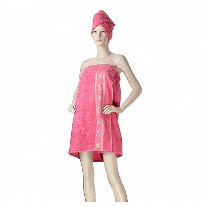 Комплект для сауны женский, коралл (2000000001197-kl), фото 1