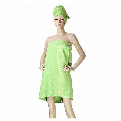 Комплект для сауны женский, зеленый (2000000001197-z), фото 1