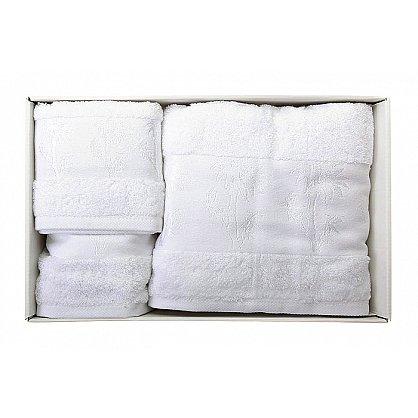 """Набор полотенец """"Bamboo"""", белый-A, 2 шт (F-bamboo-belyj-A), фото 1"""