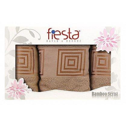 "Набор полотенец ""Fiesta cotton"", бежевый, 3 шт. (F-cotton-bezev3), фото 1"