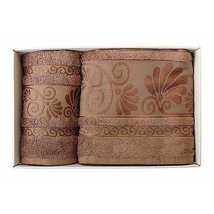 "Набор полотенец ""Opriori"", коричневый, 2 шт. (F-opriori-kor), фото 1"