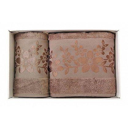"""Набор полотенец """"Verona"""", коричневый, 2 шт. (7010-F-verona-kor), фото 1"""