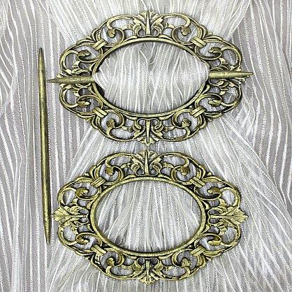 Подхват-заколка MI C2-10 oval, золото (tr-101811), фото 1