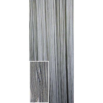 Кисея нитяная штора на кулиске Big larce - Серебряная (BL-7), фото 2