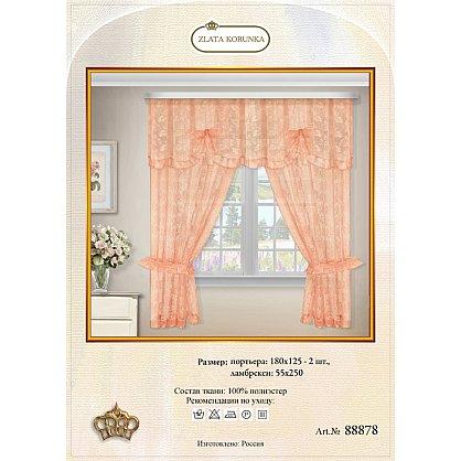 Комплект штор №88878, персиковый (zk-88878), фото 2