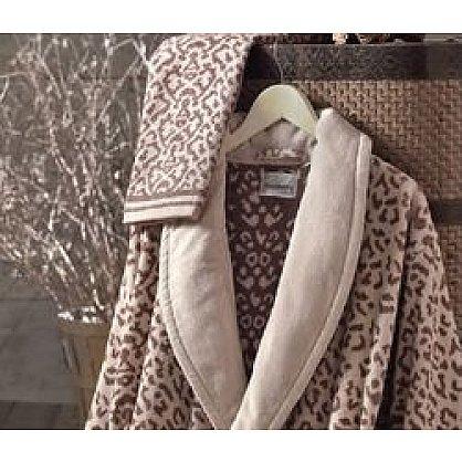 Халат женский Roseberry Leopard, Бежевый, Коричневый, р. L/XL (48-50) (tg-100171), фото 2