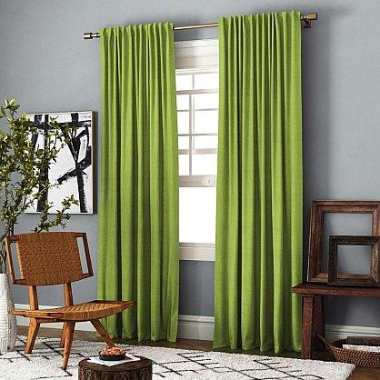 Комплект штор Ибица, зеленый, 140*270 см (bl-100072), фото 1