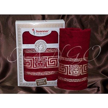 Комплект полотенец Yagmur MEDUSA (Gorgona) Cotton в коробке (50*90; 70*140), бордовый-A (tg-8220-02-A), фото 1