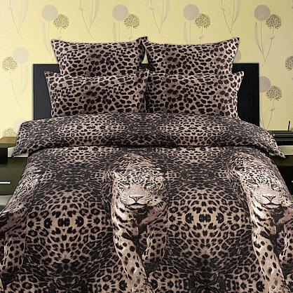 КПБ бязь ГОСТ 'Романтика Живая планета' вид 1 Пятнистый леопард (n-511), фото 1