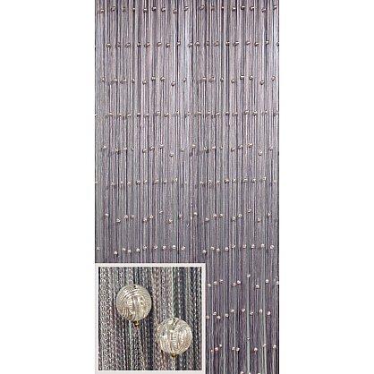 Кисея нитяная штора на кулиске однотонная Galaxy - Серебро (G7), фото 1