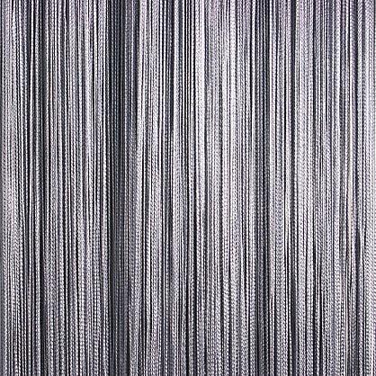 Кисея нитяная штора на кулиске однотонная - Серая (C207), фото 1