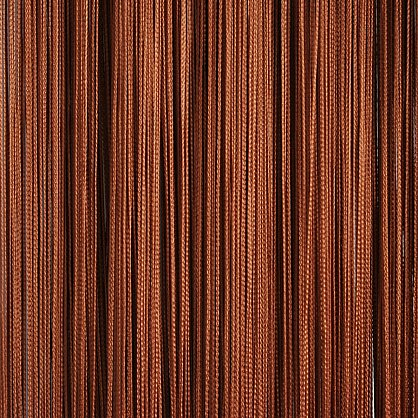 Кисея нитяная штора на кулиске однотонная - Коричневая (C8), фото 1