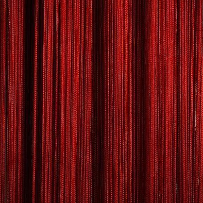 Кисея нитяная штора на кулиске однотонная - Красная (C17), фото 1