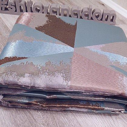 Комплект штор №127 Бежево-розовый, Голубой (rt-100146), фото 2