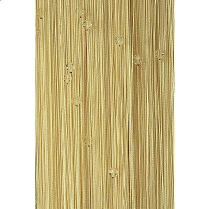 Кисея нитяная штора на кулиске однотонная с камнями - Шампань (Ok-13), фото 1