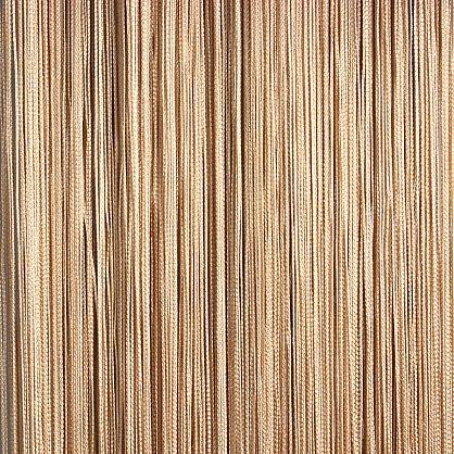 Кисея нитяная штора на кулиске однотонная - Бежевая (C14), фото 1