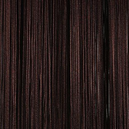 Кисея нитяная штора на кулиске однотонная - Темный шоколад (C204), фото 1