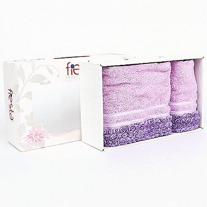 """Набор полотенец """"Roses"""", фиолет, 2 шт. (F-roses-fiol), фото 2"""