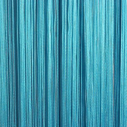 Кисея нитяная штора на кулиске однотонная - Бирюза (C201), фото 1
