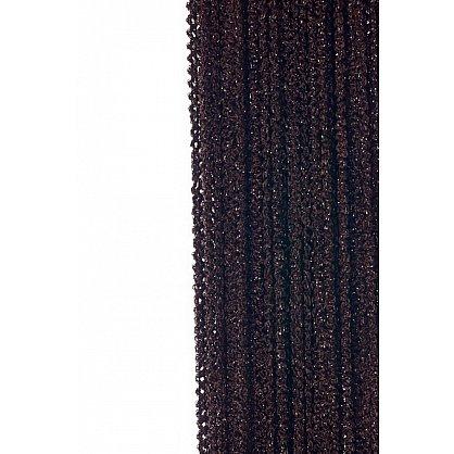 Кисея нитяная штора на кулиске облака - Темный шоколад (Ob-204), фото 1