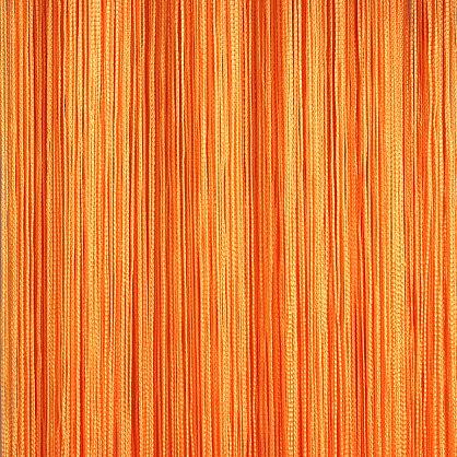 Кисея нитяная штора на кулиске однотонная - Оранжевая (C3), фото 1