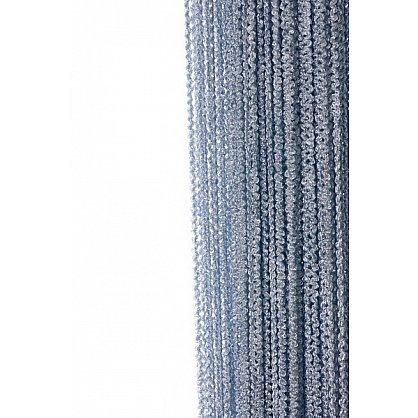 Кисея нитяная штора на кулиске облака - Серебряная (Ob-7), фото 1