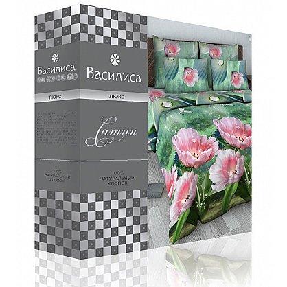 """Комплект постельного белья """"Тропический цветок"""" 1500 (2 спальное) (103844), фото 2"""