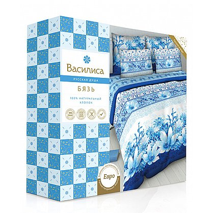 """Комплект постельного белья """"Китайская акварель-1"""" 4271-1 (евро) (100848), фото 2"""
