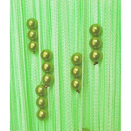 Кисея нитяная штора на кулиске с жемчугом - Фисташка (Zh-275), фото 1