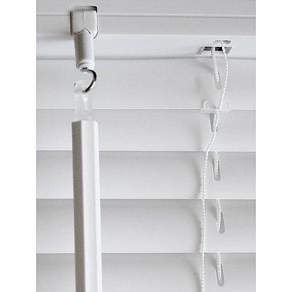 Жалюзи пластиковые, белый, ширина 90 см. (es-6090160), фото 3