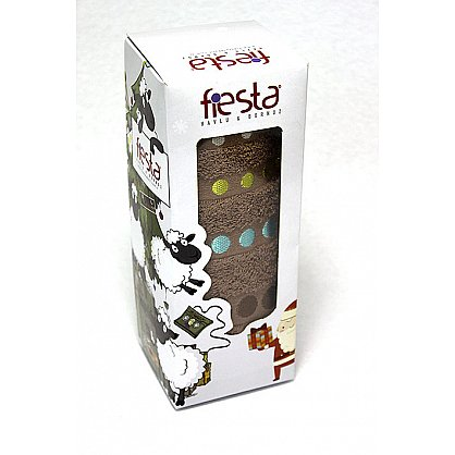 """Полотенце """"Диско"""" в новогодней упаковке, коричневый, 30*50 см (F-disco-k-30), фото 1"""