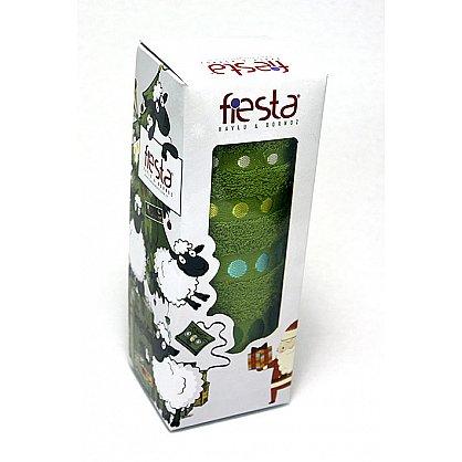"""Полотенце """"Диско"""" в новогодней упаковке, зеленый, 30*50 см (F-disco-z-30), фото 1"""