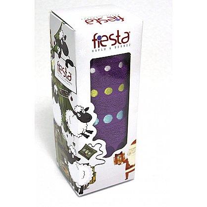 """Полотенце """"Диско"""" в новогодней упаковке, фиолетовый, 50*90 см (F-disco-f-50), фото 1"""