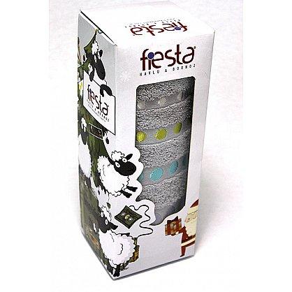 """Полотенце """"Диско"""" в новогодней упаковке, серый, 50*90 см (F-disco-s-50), фото 1"""
