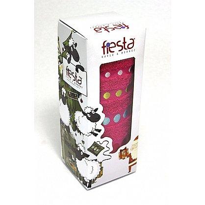 """Полотенце """"Диско"""" в новогодней упаковке, малиновый, 50*90 см (F-disco-m-50), фото 1"""
