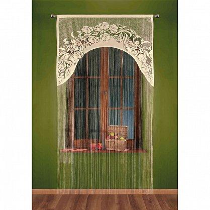 Кисея нитяная штора Ivetta на кулиске, Кремовый, 120*250 см (zk-101219), фото 1