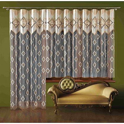 Кисея нитяная штора Рамона на зажимах, Кремовый, 130*250 см (zk-101233), фото 1