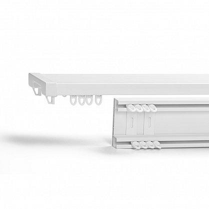 Карниз профильный пластиковый, 2-рядный, белый (ax-200093-gr), фото 1