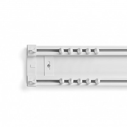 Карниз профильный пластиковый, 2-рядный, белый (ax-200093-gr), фото 2