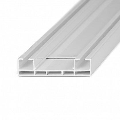 Карниз профильный пластиковый, 2-рядный, белый (ax-200093-gr), фото 3
