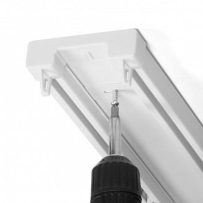 Карниз профильный пластиковый, 2-рядный, белый (ax-200093-gr), фото 4