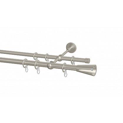 Карниз металлический Arttex с наконечником №11, 2-рядный, сталь, ø 20 мм, ø 16 мм (ax-200155-gr), фото 1