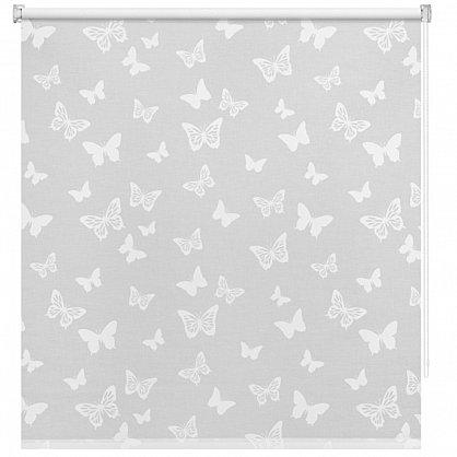 """Рулонная штора ролло """"Бабочки"""", белый (ax-200006-gr), фото 3"""